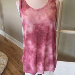 Tank clay brick tie dye womens S stretchy new